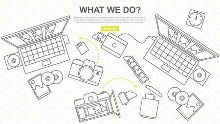 reproducing: Analog and digital photo equipment, photo and film Developing, line drawing, website design and banner