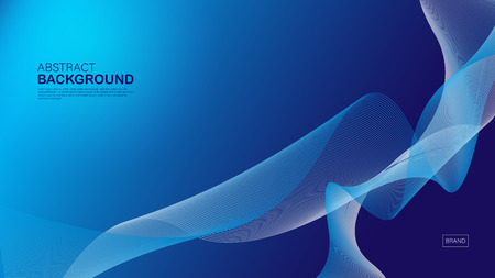 Blue wave background, abstract texture, cover design, Geometric vector, graphic, Minimal, flyer template, banner, web page, book cover, advertisement, printing template, decoration wallpaper.