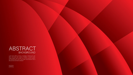 Red abstract background, wave, Geometric vector, graphic, Minimal Texture, cover design, flyer template, banner, web page, book cover, advertisement, printing template, decoration wallpaper. Ilustração