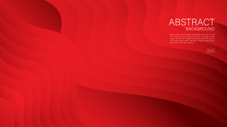 Red abstract background, Geometric vector, graphic, Minimal Texture, cover design, flyer template, banner, web page, book cover, advertisement, printing template, decoration wallpaper. Ilustração