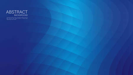 Blue gradient wave abstract background. vector cover design. graphic design. Minimal Texture. creative backgrounds template for flyer, banner, web page, book, card, advertisement, printing, decoration.