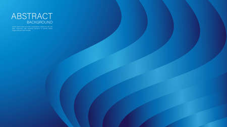 Blue gradient wave abstract background. vector cover design. graphic design. Minimal Texture. creative backgrounds template for flyer, banner, web page, book, card, advertisement