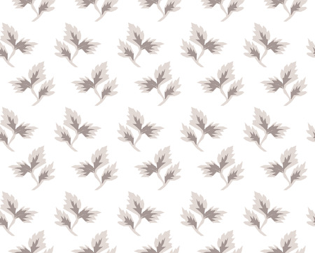 disposed: Vector seamless pattern. Stylish repeating texture. Disposed randomly floral monochrome texture with smooth leaves. Modern graphic design
