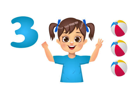 children learning number counting with fingers