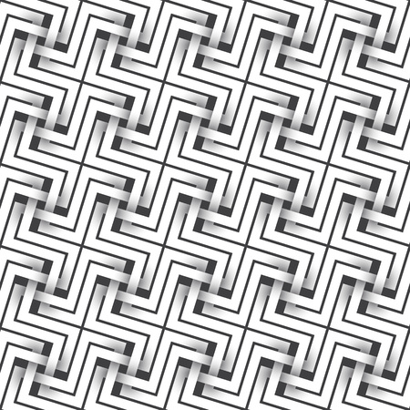 intertwined: Abstract repeatable pattern background of white twisted strips. Swatch of intertwined crosses. Illustration