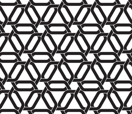 swatch: Celtic seamless pattern with swatch for filling. Fashion geometric background of hexagonal links of chain armor.