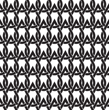Chain Mail Of The Links In Form Of Drops Celtic Seamless Pattern