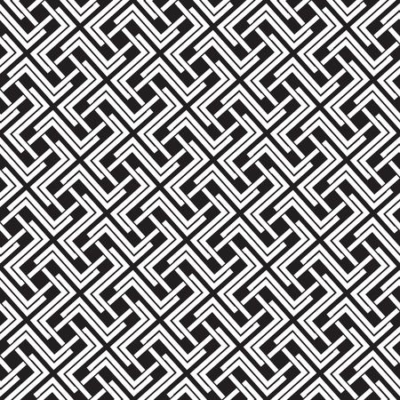 Catena elettronica dei collegamenti in forma di croci. seamless celtica con Swatch per il riempimento. Moda sfondo geometrico per il web e disegno del tatuaggio. Archivio Fotografico - 63397063