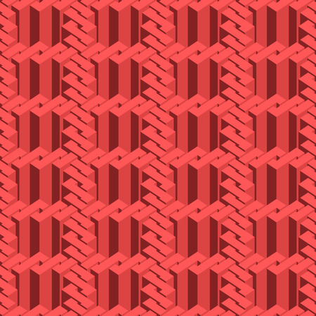 illusory: Abstract illusory endless ornament texture. Fashion geometric background for web or printing design. Swatch is attached.