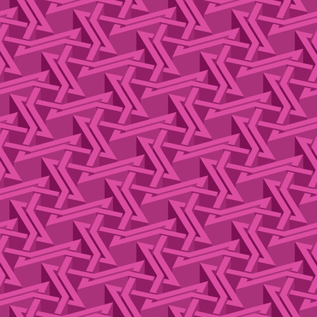 swatch: Isometric seamless pattern. Abstract illusory endless ornament texture. Fashion geometric background for web or printing design. Swatch is attached.