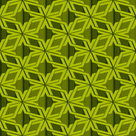illusory: Isometric seamless pattern. Abstract illusory endless ornament texture. Fashion geometric background for web or printing design. Swatch is attached.