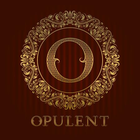 Golden O banner. Illustration