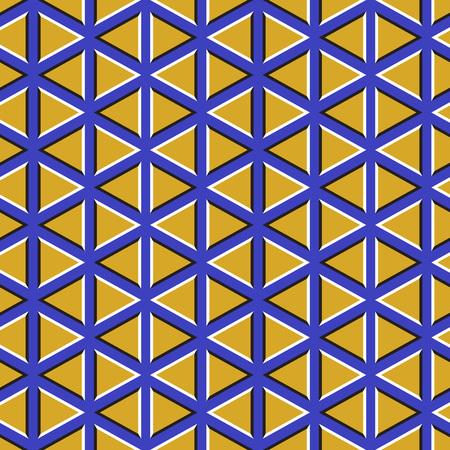 Optische illusie achtergrond. Zwevend behang met driehoeken.