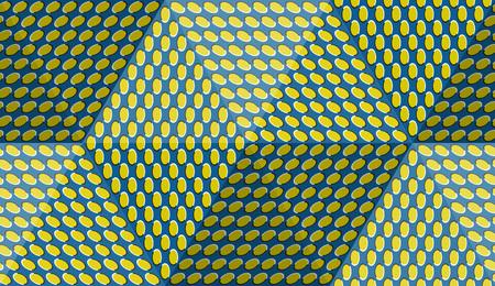 Optische beweging illusie abstracte achtergrond. Ellips gevormd naadloos patroon in hexahedral piramidevorm.