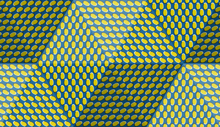 Optical motion illusion abstract background. Ellipse patterned seamless pattern in hexahedral pyramid form. Illustration