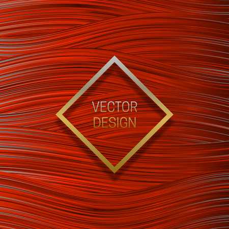 Square frame on saturated orange background. Trendy packaging design or cover template. 向量圖像