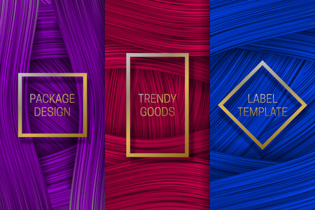 Luxury packaging design. Set of colorful labels templates for trendy goods.