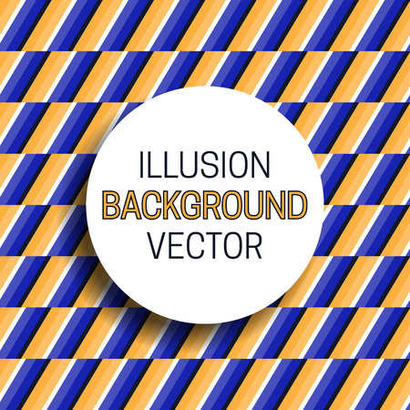 Round frame with shadow on illusion background of moving stripes pattern.