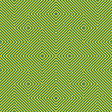 Optical motion illusion seamless pattern. Yellow green striped moving ornament. Stock Illustratie