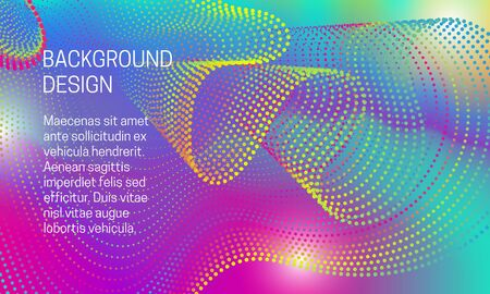 Abstract vibrant background with iridescent points dispersion. Illustration