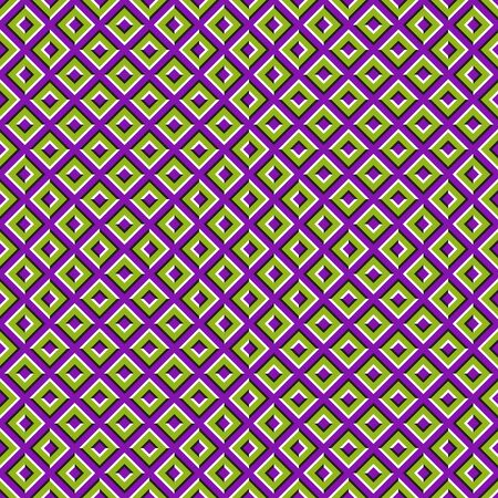 Optical illusion seamless pattern of moving squares. Stockfoto - 128890454
