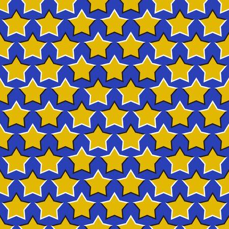 Optical illusion seamless pattern of moving stars.