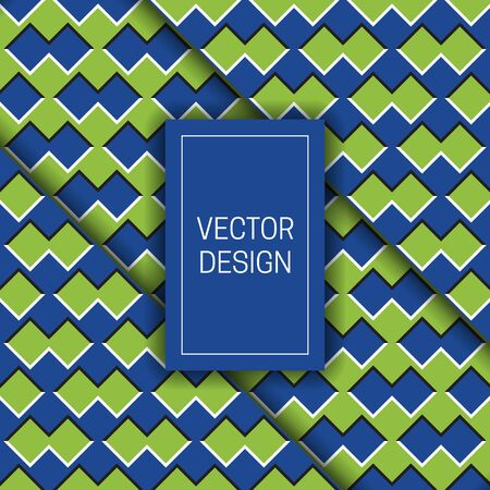 Optical illusion moving background with rectangular frame for text. Trendy packaging design or cover template. Stockfoto - 128890455