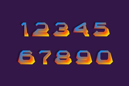 Heated hot colors 3d numbers with currency signs of dollar and euro.