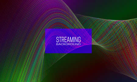 Streaming background design with energetic colorful string flow. Abstract background for banner, flyer or music poster.