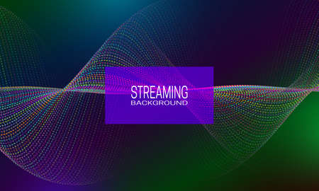 Streaming background design with rhythmic strings amplitude. Abstract background for banner, flyer or music poster.