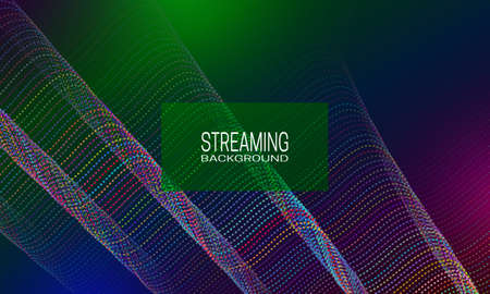 Streaming background design of colorful wavy strings. Abstract background for banner, flyer or music poster.