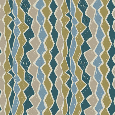 Abstract painting vector seamless pattern, tribal textile design. Wrapping ethnic ornament. Boho style wallpaper.