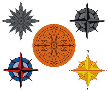 Compass panel on white background Stock Vector - 7885586