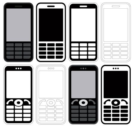 Mobile phones  Stock Vector - 7885584