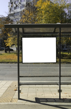 advertisers: Black banner. This is for advertisers to place ad copy samples on a bus shelter.