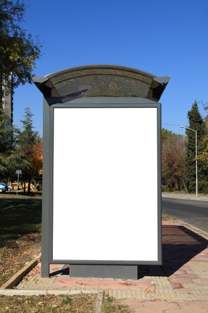 Black banner. This is for advertisers to place ad copy samples on a bus shelter. Stock Photo - 8286604