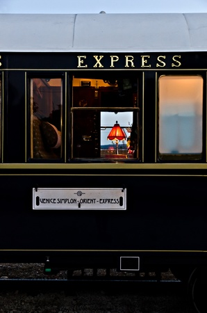 franz: VARNA, BULGARIA - SEPTEMBER 6: The legendary Orient Express is ready to depart from Varna Railway Station on September 6, 2011 in Varna, Bulgaria. The luxury train travels between Paris and Istanbul