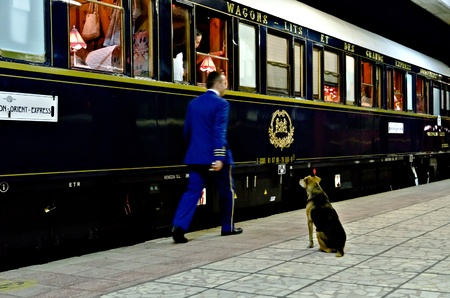 legendary: VARNA, BULGARIA - SEPTEMBER 6: The legendary Orient Express is ready to depart from Varna Railway Station on September 6, 2011 in Varna, Bulgaria. The luxury train travels between Paris and Istanbul