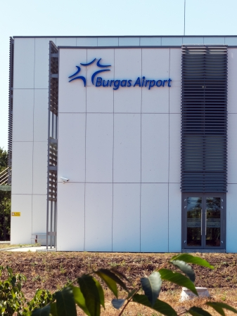 BURGAS, BULGARIA - JULY 21: Building bearing the logo of Sarafovo Airport  on July 21, 2012. Deadly attack against Israeli tourists occurred on the grounds of the Sarafovo Airport.