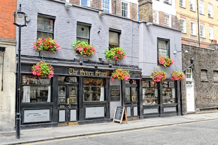 LONDON, ENGLAND - JULY 1, 2014 The Seven Stars Pub on 53-54 Carey Street, Holborn, London after the recent exterior renovation work.