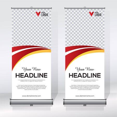 Enroulez la bannière, tirez la bannière, la bannière x, le nouveau modèle de conception de vecteur vertical moderne Vecteurs