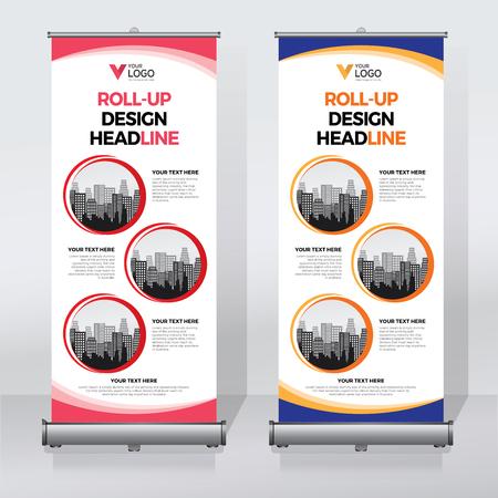 バナーデザインテンプレート、垂直、抽象的な背景、プルアップデザイン、現代のバナー、長方形のサイズをロールアップ。 写真素材 - 93736011