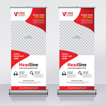 Roll Up Banner Design Template, Vertical, Abstract Background ...