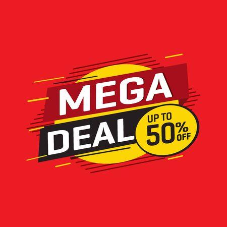 Sale and special offer tag, price tags, Sales Label, banner, Vector illustration. Ilustração Vetorial