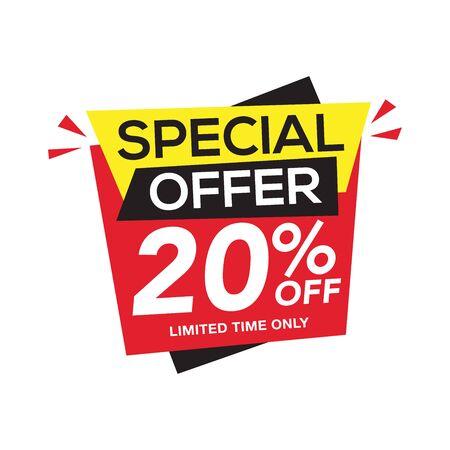 Verkoop en speciale aanbieding tag, prijskaartjes, verkooplabel, banner, vectorillustratie. Vector Illustratie