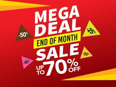 Venta y etiqueta de oferta especial, etiquetas de precio, etiqueta de venta, banner, ilustración vectorial.