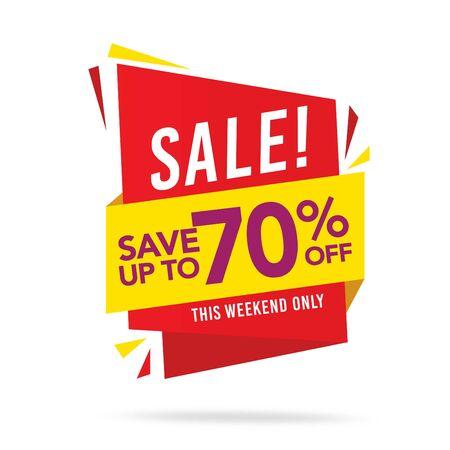 Venta y etiqueta de oferta especial, etiquetas de precio, etiqueta de venta, banner, ilustración vectorial. Ilustración de vector