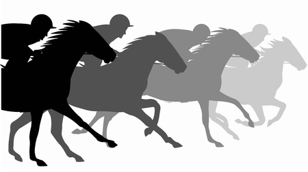 Horse race Silhouette,  Racecourse, Jokey, Rider Stock Vector - 91249753
