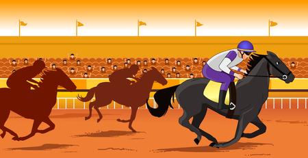 Horse race course 일러스트
