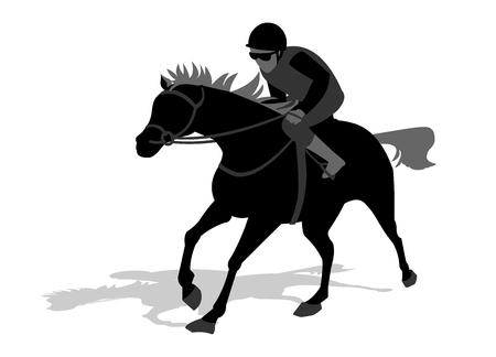 horse rider silhouette 일러스트